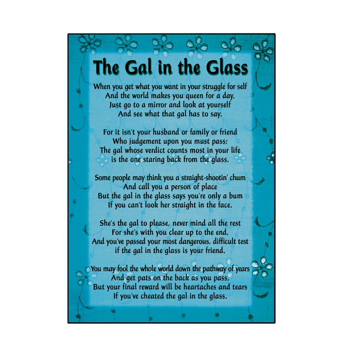The Gal in the Glass Greeting Card