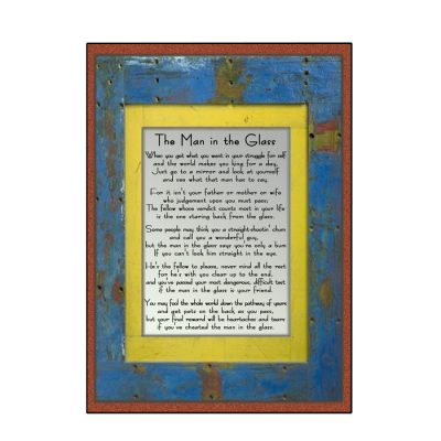 The Man in the Glass Greeting Card