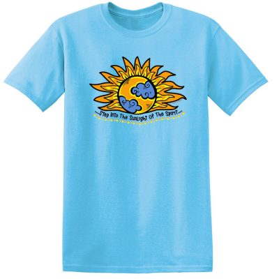 Into the Sunlight of The Spirit Sky Blue Tee