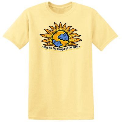 Into the Sunlight of The Spirit Yellow Tee