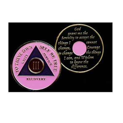Tri-Plate Medallion in Pink