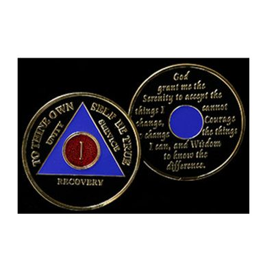 Tri-Plate Medallion – Red/Purple