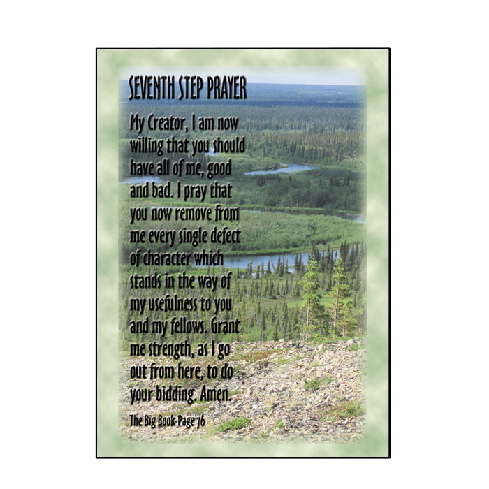 Greeting cards serenity superstore by valley graphics 7th step prayer greeting card m4hsunfo