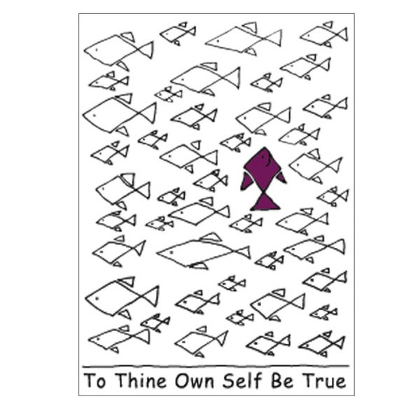 To Thine Own Self Be True Sticker Valley Graphics