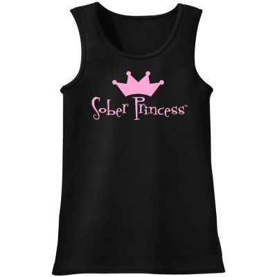 Sober Princess Black Tank Top
