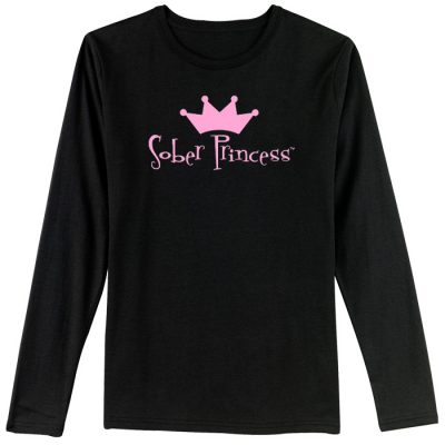 Sober Princess Black Long Sleeve Tee