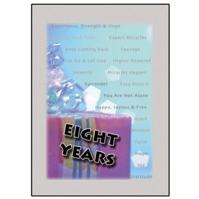 New! Eight Year Card