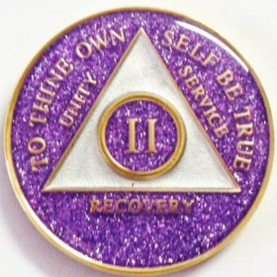 Tri-Plate Purple Glitter