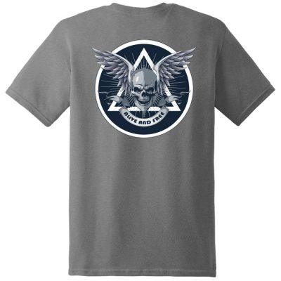 New! Alive and Free Gray Tee