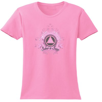 Sober Is Sexy Pink Tee