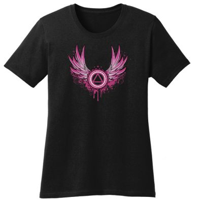 New! Winged Symbol Black Tee