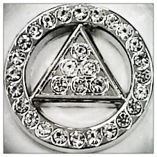 Rhinestone Symbol Lapel Pin