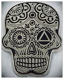 Sugar Skull Lapel Pin