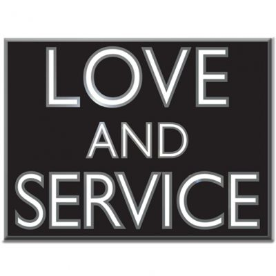 Love and Service Lapel Pin
