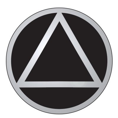New! Service Symbol AA Black/Chrome Sticker