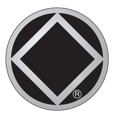 New! Service Symbol NA Black/Chrome Sticker