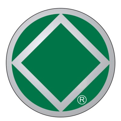 New! Service Symbol NA Green/Chrome Sticker