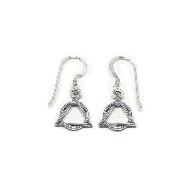 Weave AA Symbol Earrings