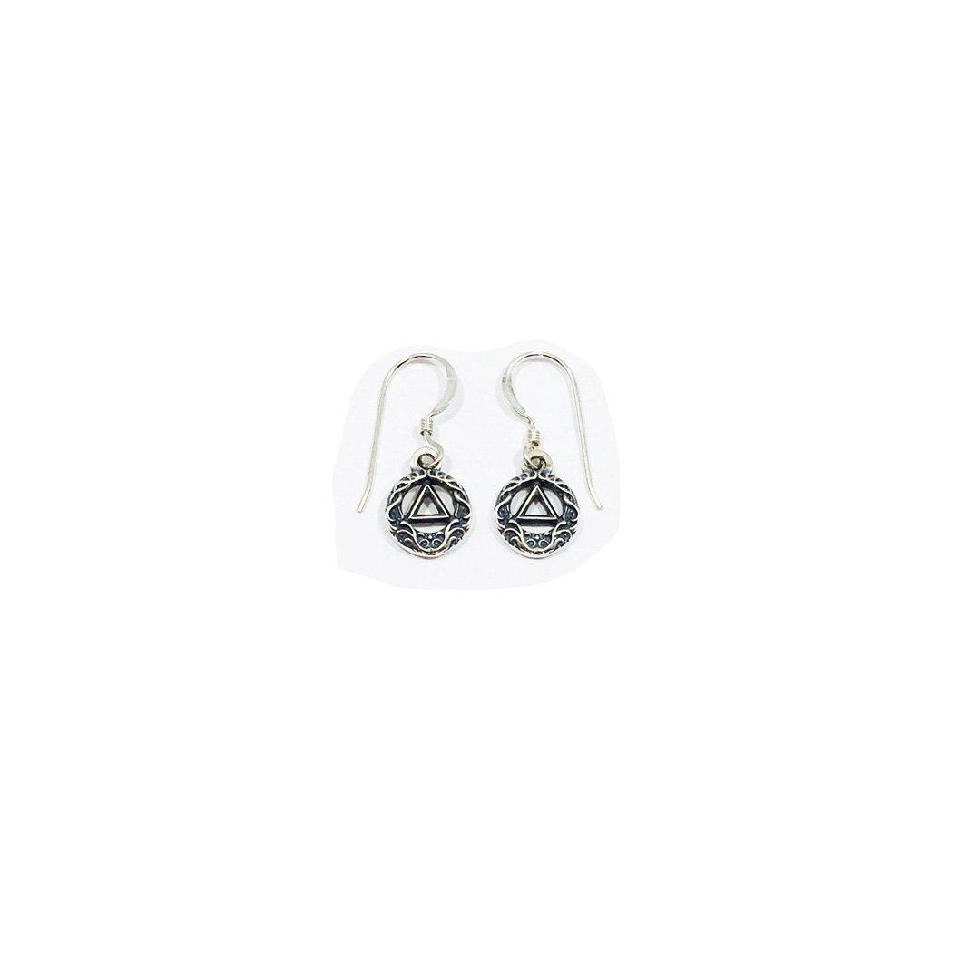 AA Symbol Scroll Earrings