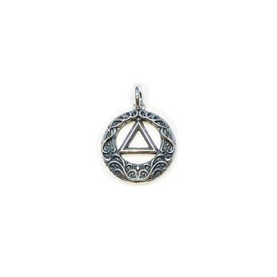 Medium AA Scroll Symbol Charm/Pendant