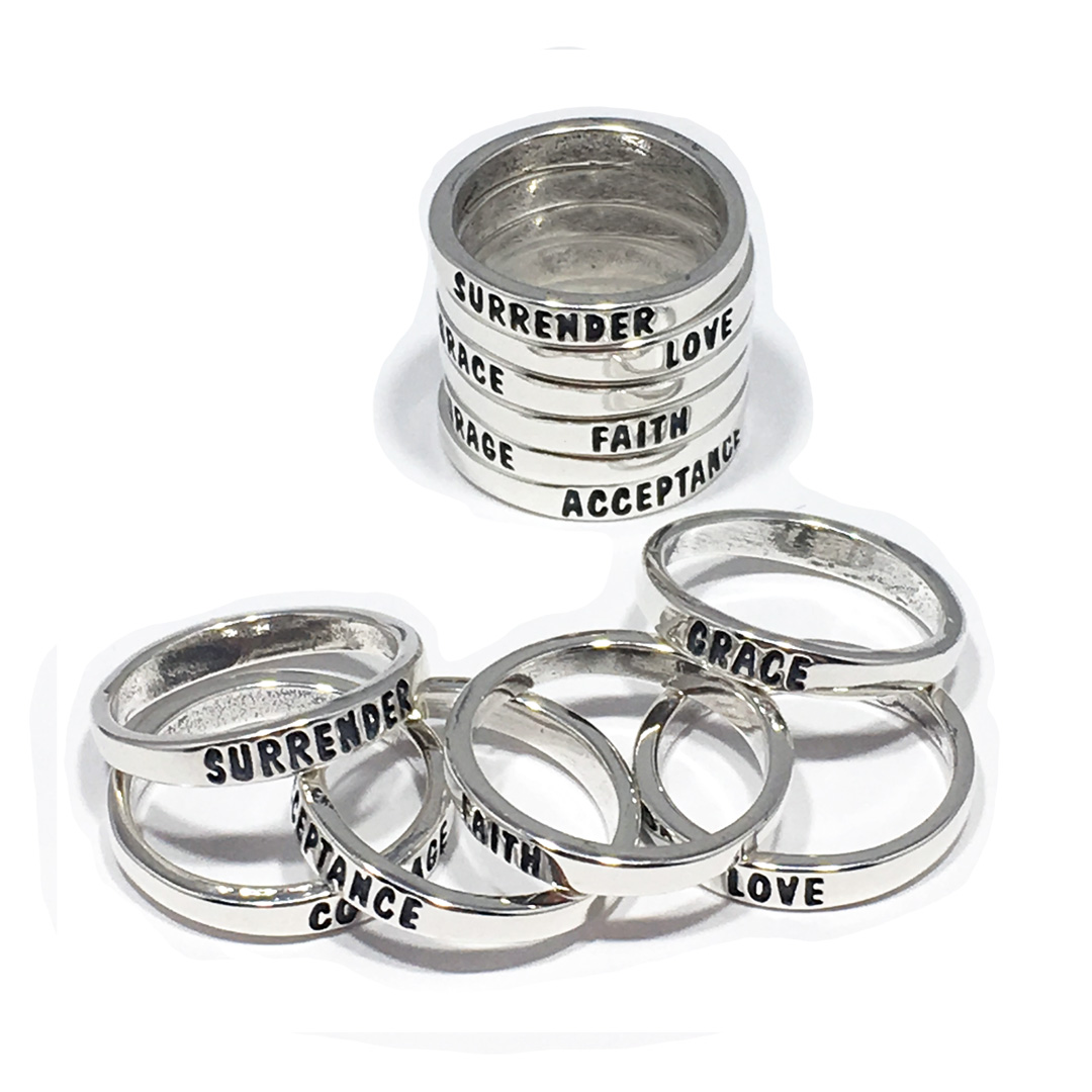 New Stackable Saying Rings