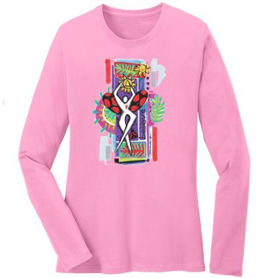 Believe Long Sleeve Pink Tee