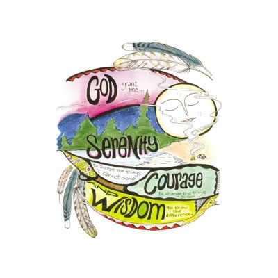 New! Serenity Courage Wisdom Card