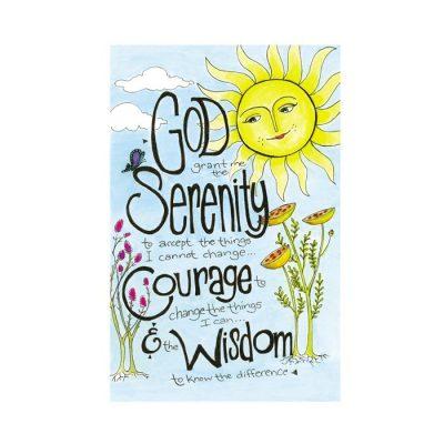 New! Serenity Prayer Card