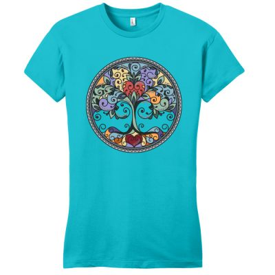 New! Tree of Life Turquoise Tee