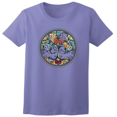 New! Tree of Life Violet Tee