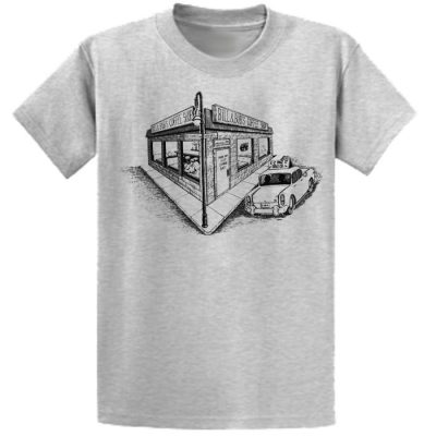 New! Bill and Bob's Coffee Shop Ash Tee