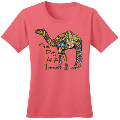 New! ODAT Camel Coral Tee