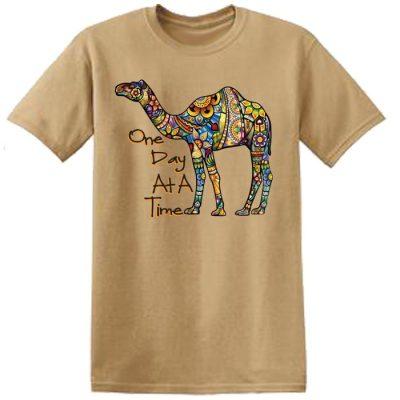New! ODAT Camel Khaki Tee