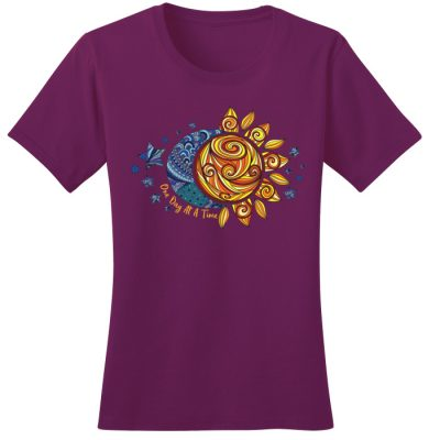 New! ODAT Sun and Moon Raspberry Tee