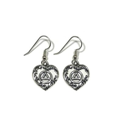 Ornate Heart Earrings