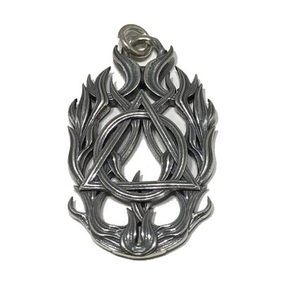 Symbol Flame Weave Pendant
