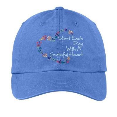 Grateful Heart Hat Blue