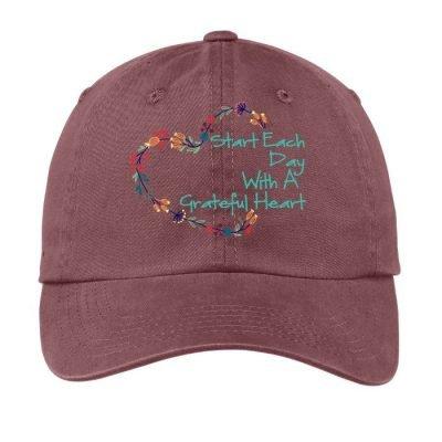 Grateful Heart Hat Raspberry