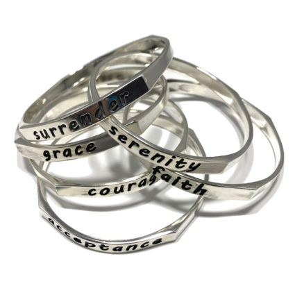 New Thick Stackable Saying Bracelets