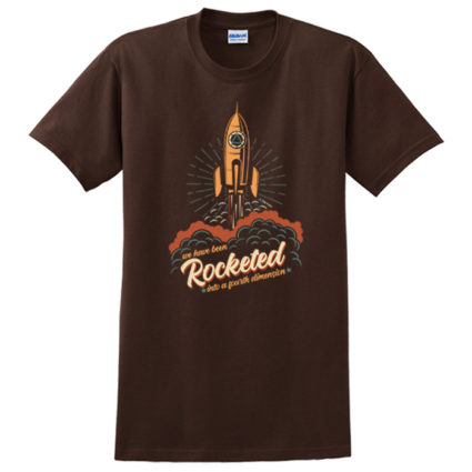New! Rocketed Brown Tee