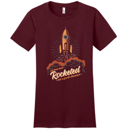 New! Rocketed Maroon Tee