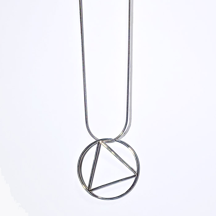 New! Large Plain Wire Pendant