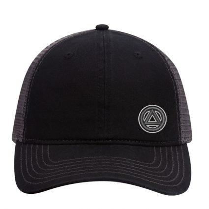 New Side Symbol Mesh Hat – Black
