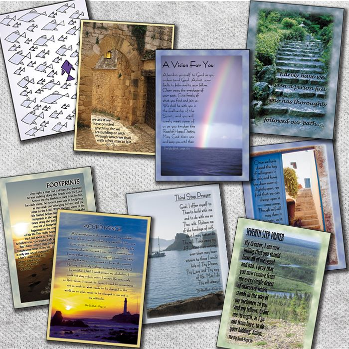 Addiction recovery greeting cards gifts