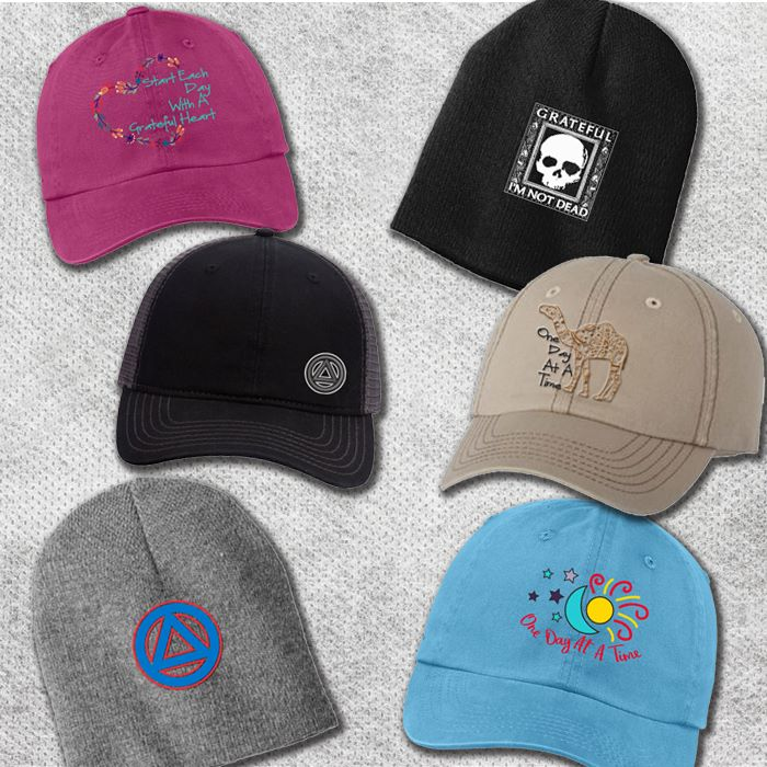 addiction recovery hats gifts