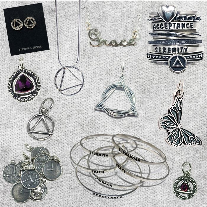 addiction recovery jewelry gifts