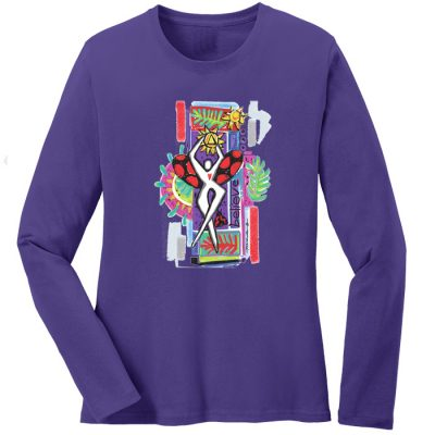 Believe Long Sleeve Purple for Woman to Woman